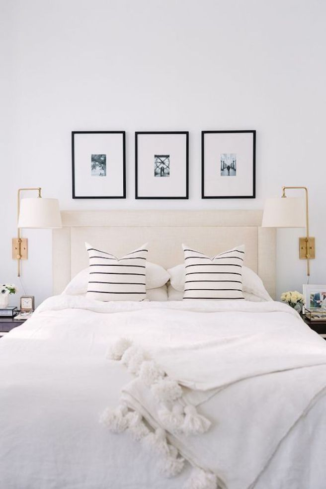 Gold and monochrome bedroomThe Everygirl Cofounder Alaina