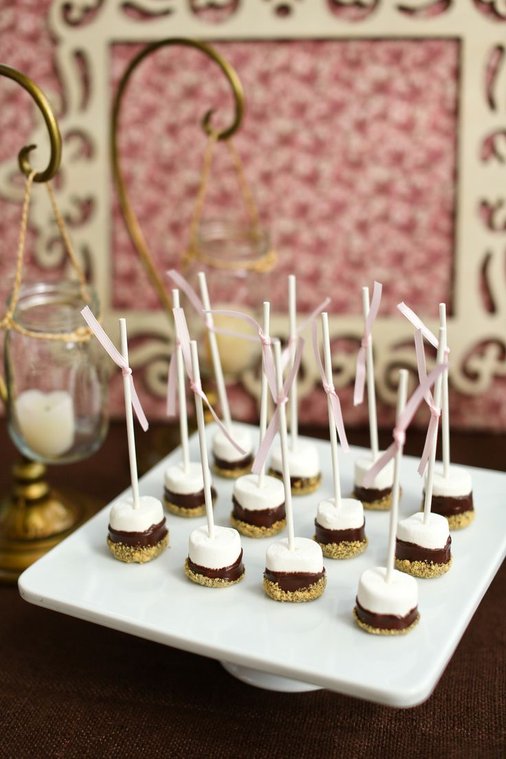 s'mores bar wedding | Romantic  Rustic S'mores Dessert Table in The Atlantan Brides ...