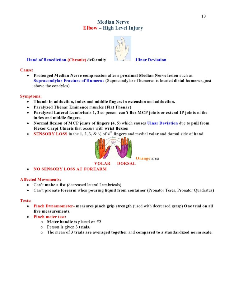 Peripheral Nerve Injuries Study Guide  page 13  https://www.inkling.com/read/skirven-rehabilitation-the-hand-upper-extremity-6th/chapter-45/presentation-of-specific-nerve