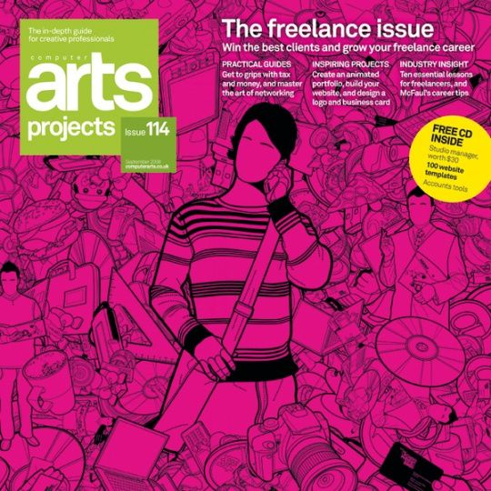 Art Direction: Computer Arts Projects Covers by Alan Wardle  Creative Magazine Covers