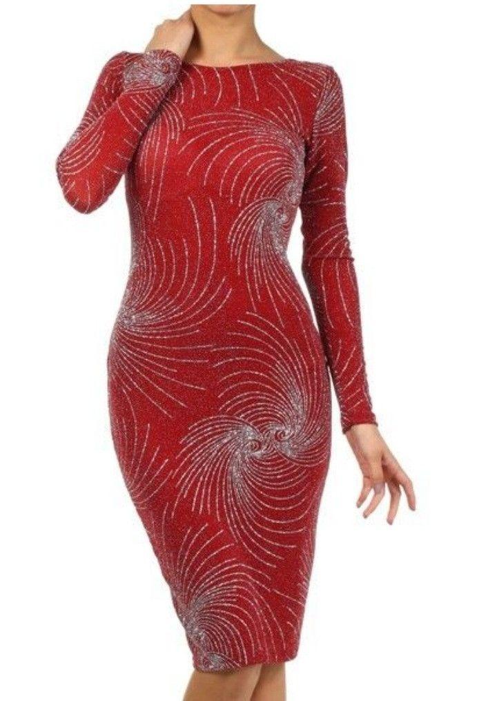 BEAUTIFUL LONG SLEEVE Glitter Dress