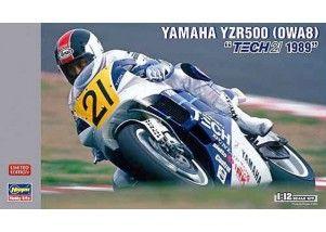 """Yamaha YZR500 (0WA8) """"TECH21 1989"""" scala 1:12  HASEGAWA  art.HA21708"""