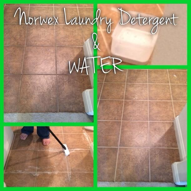 Do you have tile grout that needs cleaning? Have you been putting it off because you think it will be a tedious job? If so check this out!! Norwex Laundry Detergent ~ Water and a scrub brush! Yes, Norwex Laundry Detergent does MORE than laundry. Contact me to order yours NOW!!!