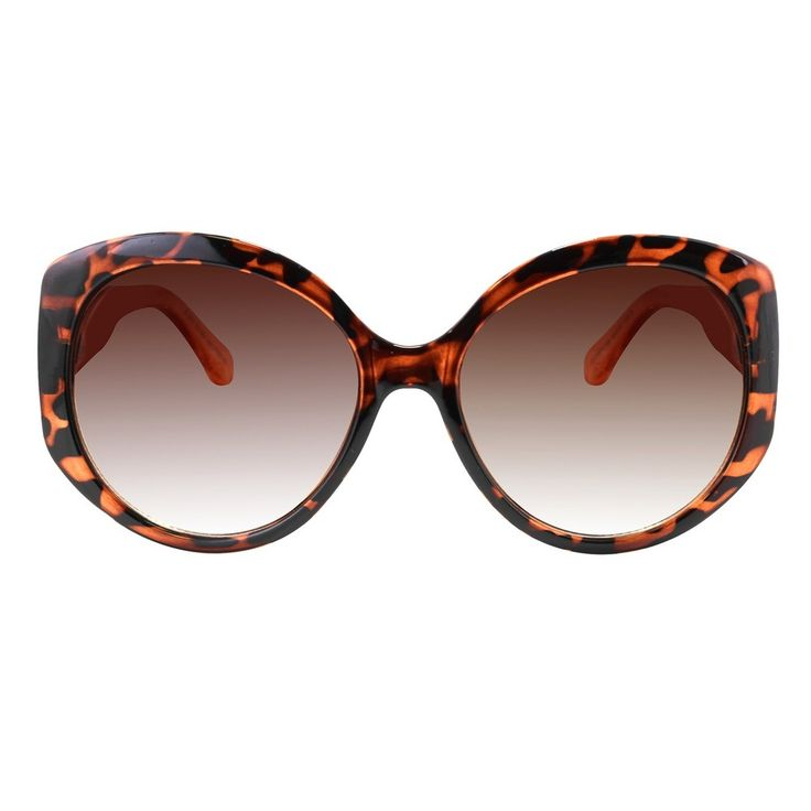 Women's Oversized Sunglasses with Brown Gradient Lens - Brown