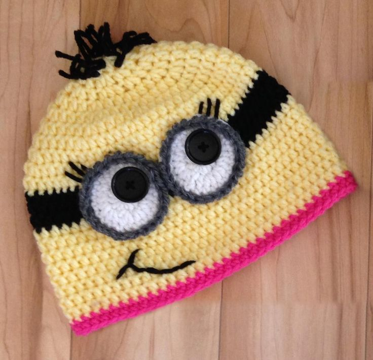 Free Crochet Pattern Minion Beanie : 17 Best ideas about Minion Beanie on Pinterest Crocheted ...