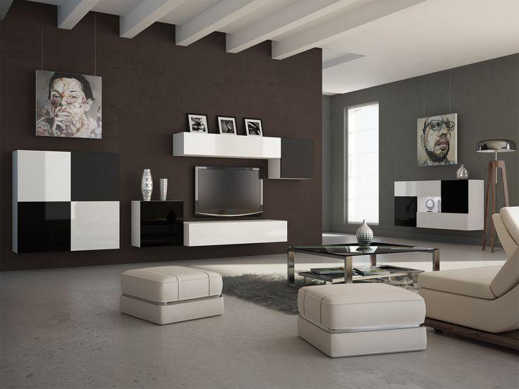 Salon Black & White #komoda #szafka #szafa #minimalizm #szachownica #glamour #retro #black #white #czarny #biały #meble #nowość #new #czarnobiały #lakier #połysk #shine
