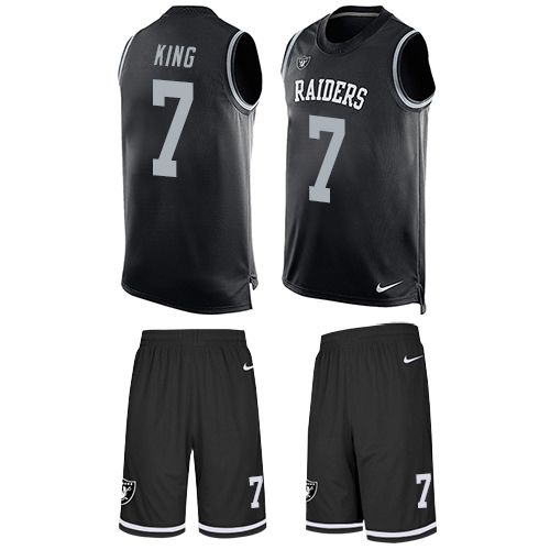 nike raiders marquette king black team color mens stitched nfl limited tank top suit jersey and jerseys youth