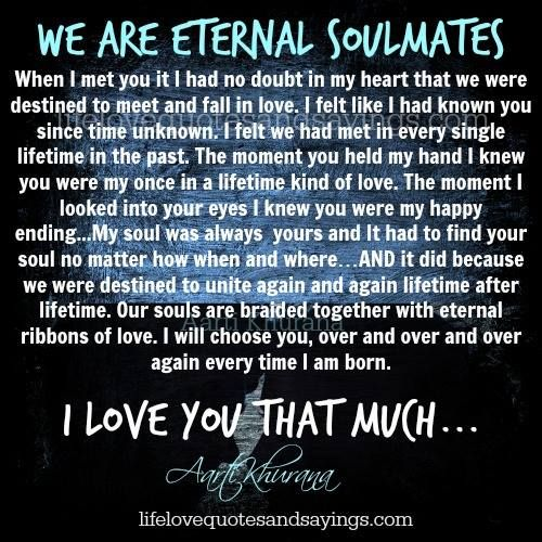 knowing your soulmate before you meet them and plead