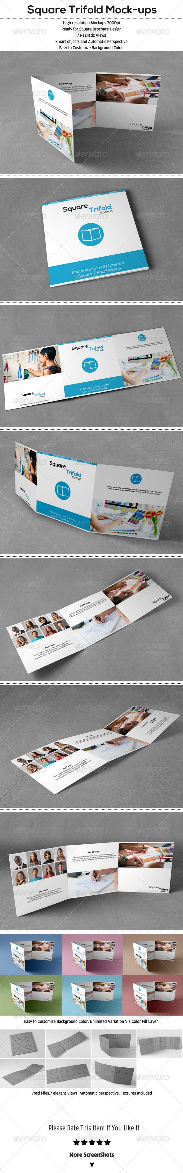 Square Trifold Mockup Download here: https://graphicriver.net/item/square-trifold-mockup/6354539?ref=KlitVogli