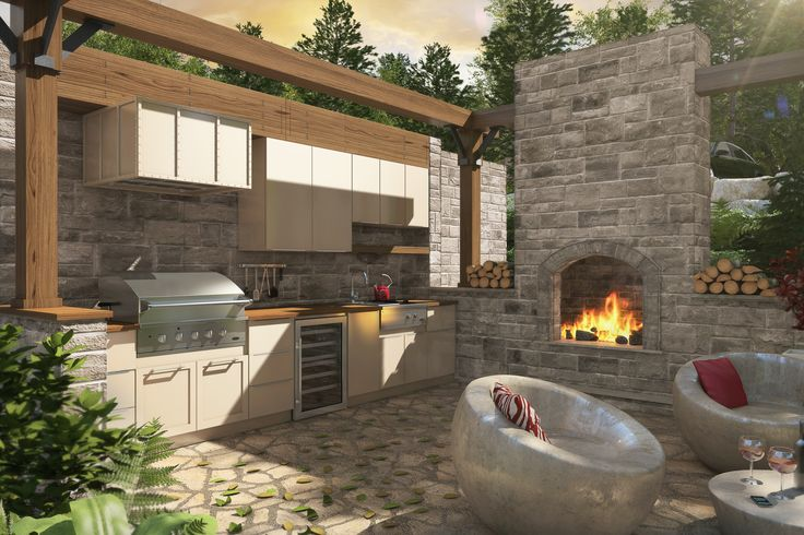 Armoires de cuisine Tendances Concept  Cuisine extérieure