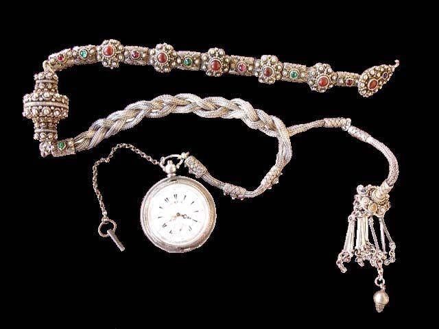 Εκθεμάτων | FOTIS RAPAKOUSIS` MUSEUM ρολόι με ασημένια αλυσίδα