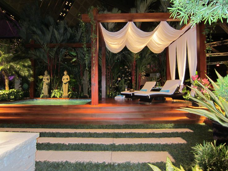 Singapore Garden Festival 2012 - Balinese garden is great for outdoor relaxation .