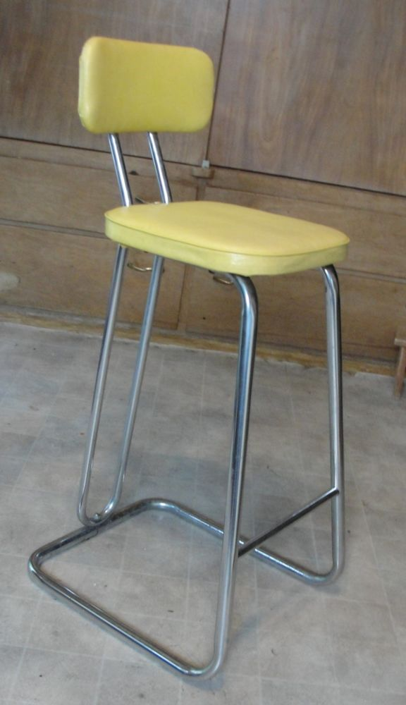 Vintage Daystrom Metal Yellow Kitchen Stool Bar Kids Booster Seat Ebay