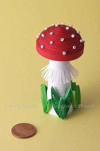 Mushroom (3D quilling) by Inna's Creations, via Flickr