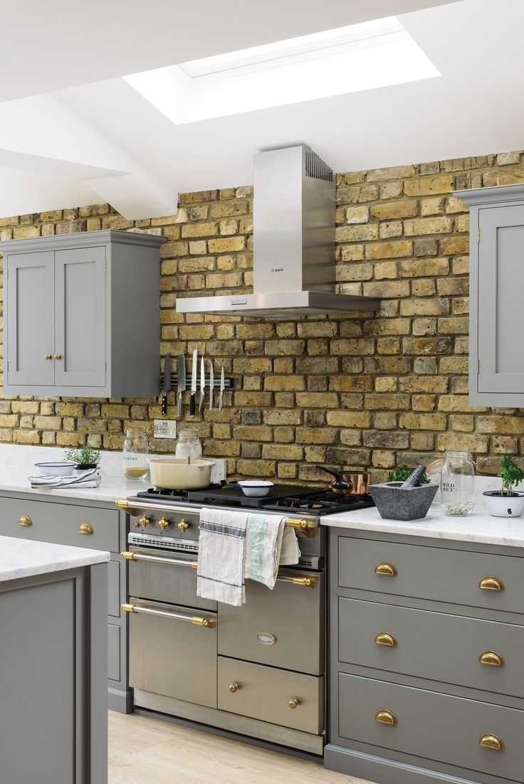 This stylish Lacanche range cooker looks so wonderful amongst our Lead Shaker drawers with beautfiul brass cup handles