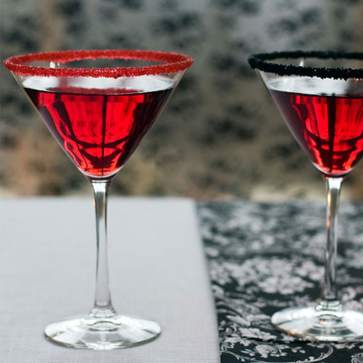 Halloween Red and Black cocktail rimming sugars