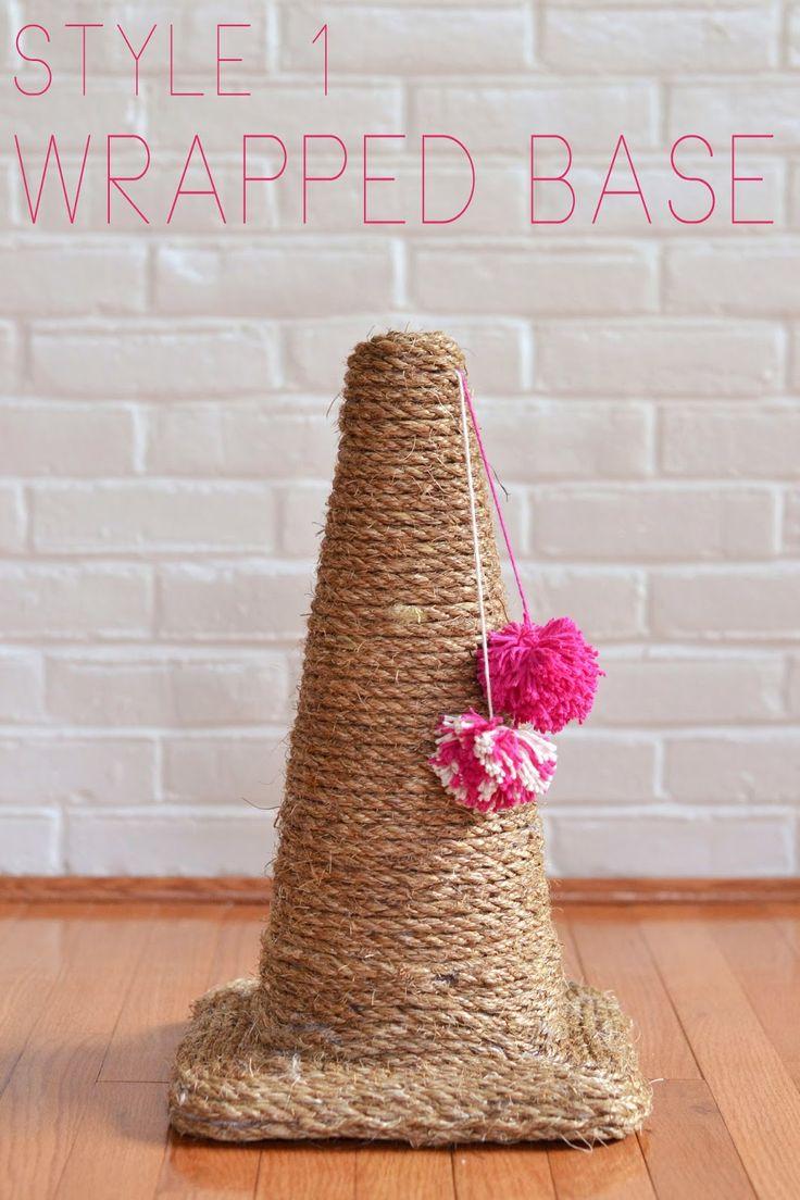 so fancy: make it: traffic cone cat scratching posts