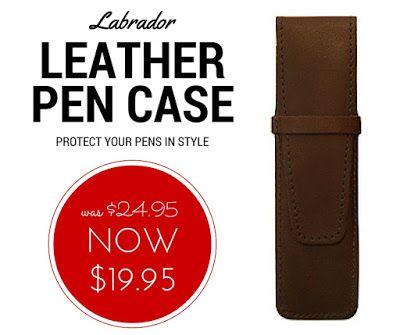 WEEKLY SPECIAL: Labrador Leather Pen Case NOW $19.95 (was $24.95)  #labradorleather #pencase #penwallet