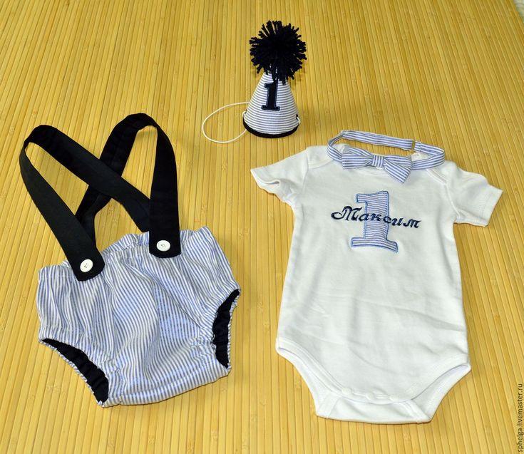 Купить Именной комплект для мальчика на день рождения - боди с вышивкой, боди именное, для фотосессии