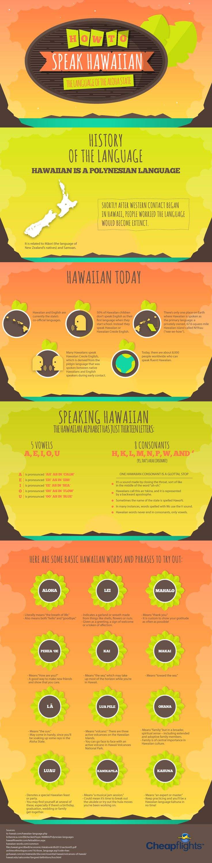 How to Speak Hawaiian #infographic #Travel #Hawaii #Language