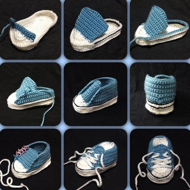 Crochet Baby Converse Free Pattern                                                                                                                                                                                 More