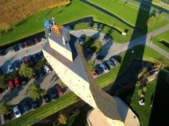World's tallest man-made climbing wall - The Netherlands- have to build up some upper body strength before this since i have zero