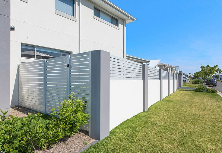 EstateWall for new corner block build at Greenhills, NSW.