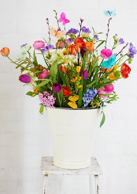 Hope it's #spring soon! Colorful flowers with some butterflies. #WeBloom loves #flowers and plants.  http://www.webloom.nl/