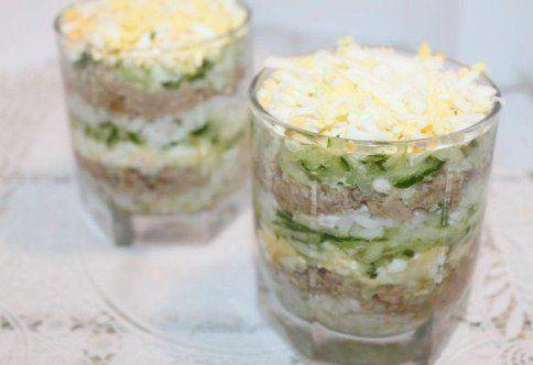 Салат из печени трески консервированной от Жрать.ру