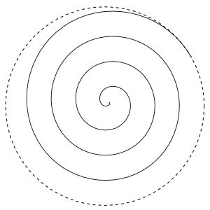 Spiral pattern for machine quilting