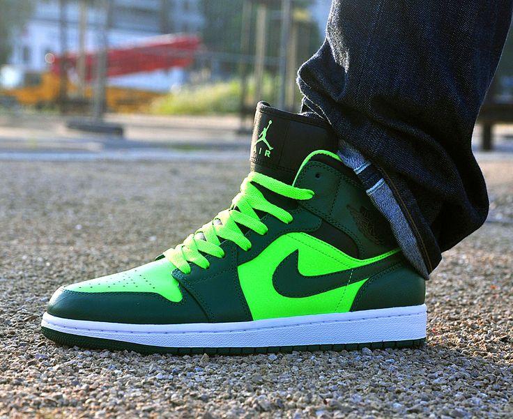 Air Jordan 1 Mid 'Electric Green'. Sadly I'm a sucker for a good high top.