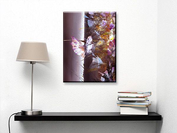 Πίνακας σε καμβά DigiWall ΤΕΧΝΗ : Πεταλούδα, λάδι σε καμβά