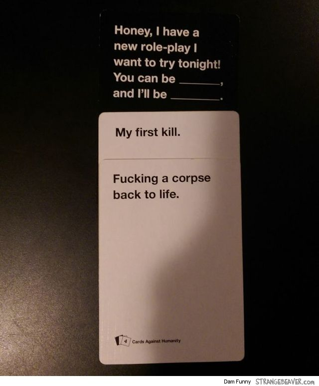 That's a bit specific - Fun Times Playing Cards Against Humanity – Strange Beaver