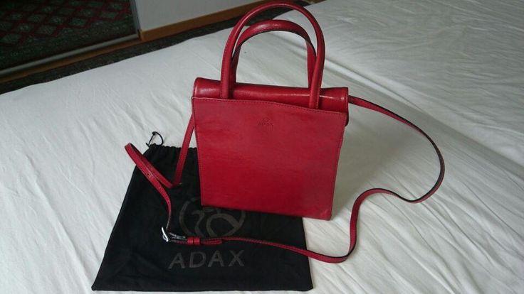 Adax handväska, röd på Tradera.com