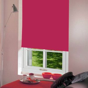 Bright Pink Dim Out Roller Blind
