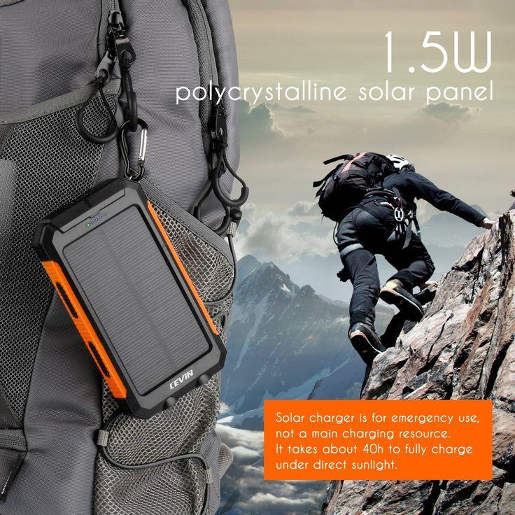 Amazon.com: Solar Charger, Levin 10000mAh LED Emergency Light Dual USB Port…