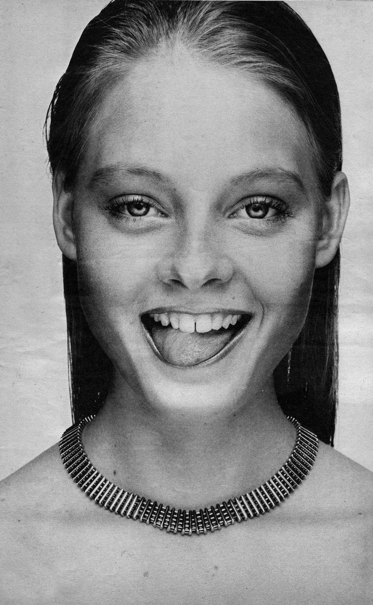"Jodie Foster by Andy Warhol (1977) ~ She was listed as one of twelve ""Promising New Actors of 1976"" in John'Willis' Screen World. – Tim Biddulph"