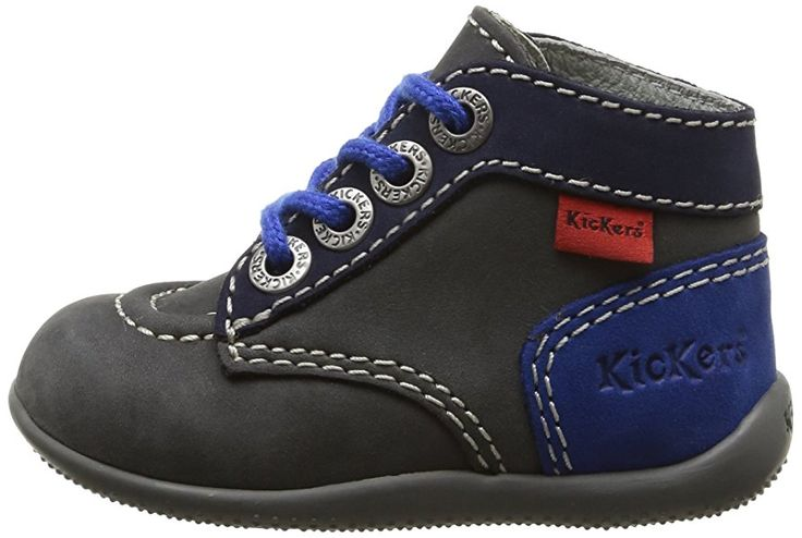 Kickers Bonbon - Zapatos primeros pasos para niña gris Gris (Gris/Marine/Bleu) 20: Amazon.es: Zapatos y complementos