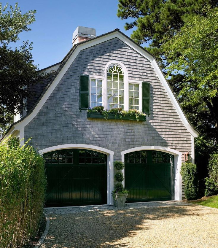 Fhf a newly constructed carriage house to complement the for Carriage house garages