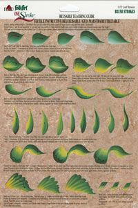 one stroke painting | One Stroke Worksheet Leaf Strokes
