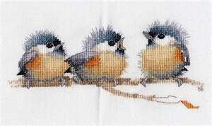 watercolor bluebirds - cross stitch not watercolor - still pretty
