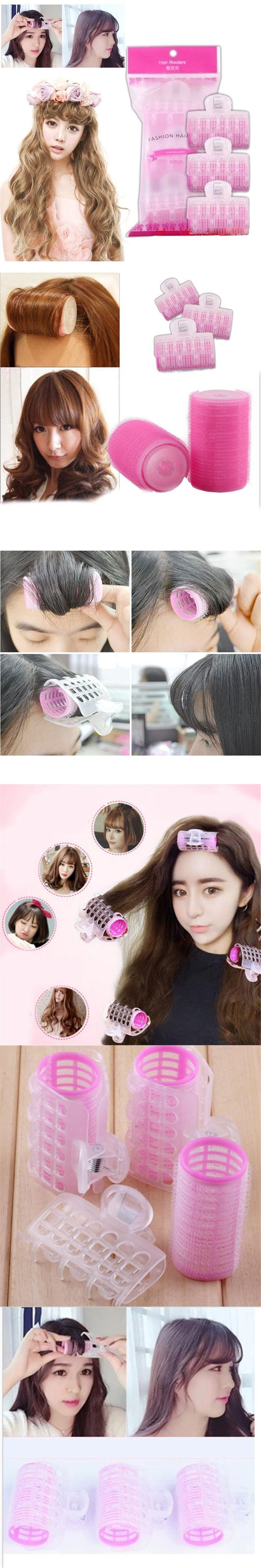 Plastic Hair Curler Roller Large Grip Styling Roller Curlers Magic Hair Curlers Tools Styling Home Use Hair Rollers