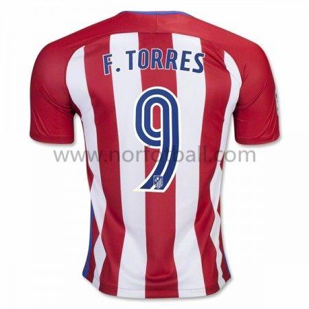 Billige Fotballdrakter Atletico Madrid 2016-17 Fernando Torres 9 Hjemme Draktsett Kortermet