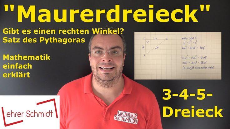 3-4-5-Dreieck, Maurerdreieck, Mathematik, Lehrerschmidt, einfach erklärt