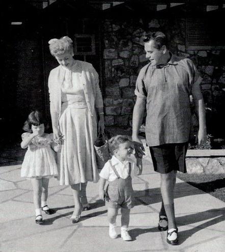 Lucille Ball, Desi Arnaz, and their children Lucie and Desi Jr