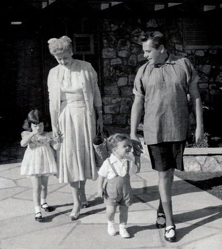 Lucille Ball, Desi Arnaz and children