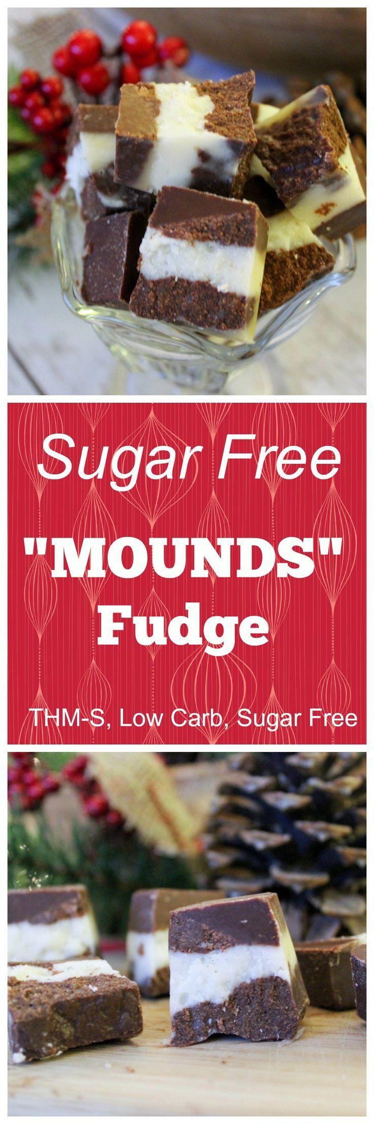 """Sugar Free """"Mounds"""" Fudge (THM-S, Low Carb, Sugar Free)"""