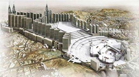 Masjid al-Haram Kaaba Expansion Project in 2020 in Makkah Saudi Arabia
