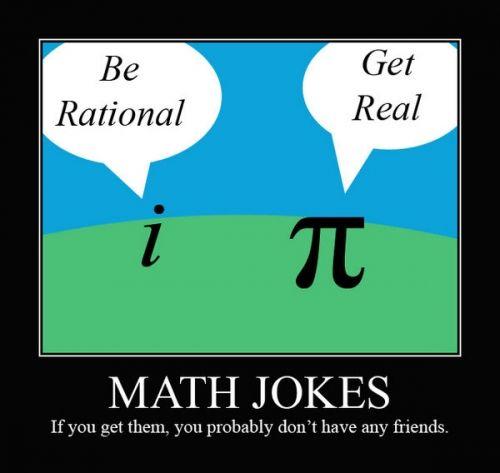 I love math jokes, when I get them *blush*