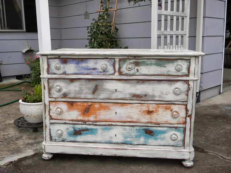 Emily's Up-cycled Furniture: What to do with damaged old dresser???